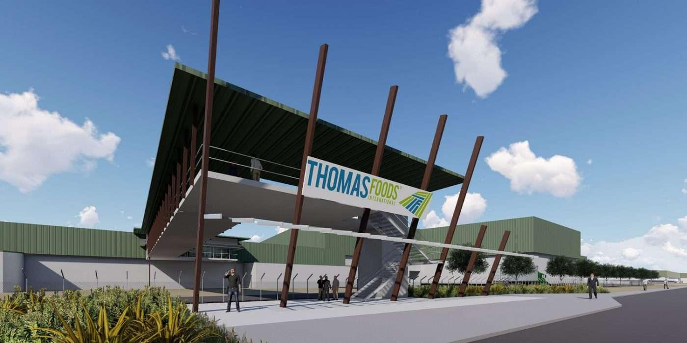 Render of Thomas Foods building in Murray Bridge